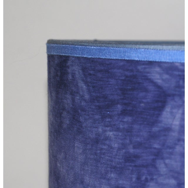 Blue Hand Dyed Fabric Lampshade - Image 5 of 5