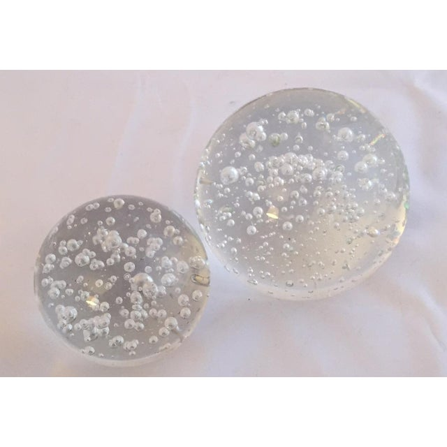 Image of Clear Glass Decorative Bubble Balls - A Pair