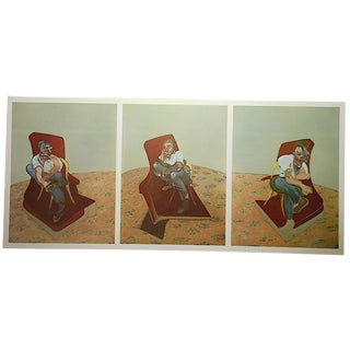 Vintage Lithograph by Henry Moore-Derriere Le Miroir-Folio-Tryptych