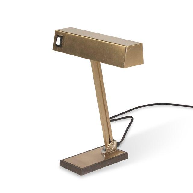 Vintage German 1960s Bronze Pivoting Desk Lamp - Image 4 of 10
