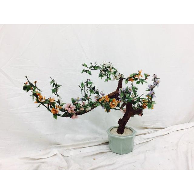 Vintage Mixed Stone Bonsai Tree Sculpture - Image 4 of 11