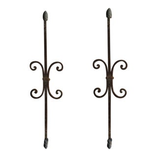 Antique Victorian Iron Architectural Salvage - A Pair