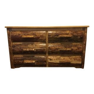 Rustic Pine Log Dresser