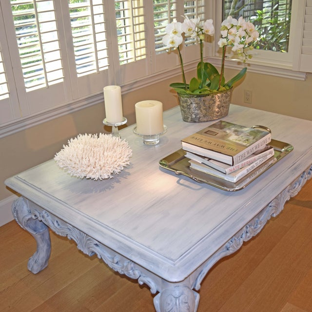 Hand Painted Paris Gray Coffee Table - Image 4 of 10