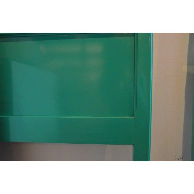 Image of Lacquered Green Queen Fretwork Headboard