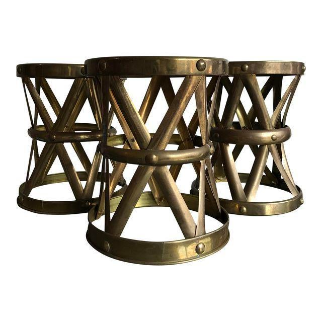 Vintage Brass Stool - Image 3 of 6