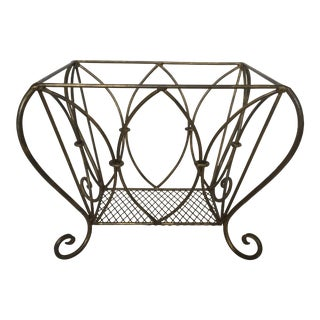 Gilded Brass/Bronze Wrought Iron Magazine Holder