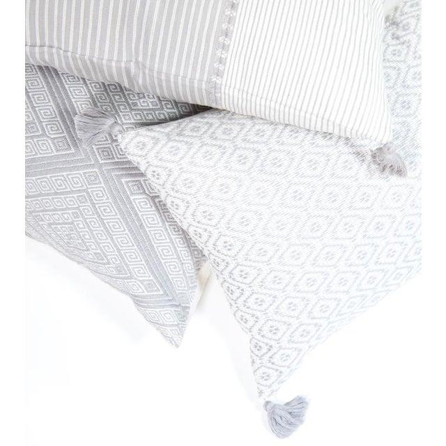 "Image of Striped Grey & White Pillow - 20"" x 13"""