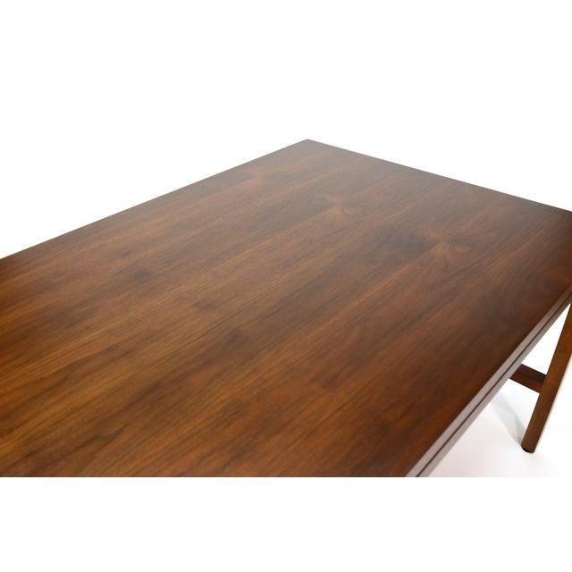 Jens Risom Style Walnut Executive Desk - Image 5 of 5