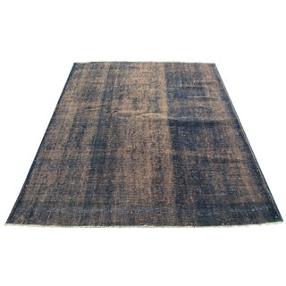 Distressed Over-Dyed Turkish Rug - 5′4″ × 6′4″