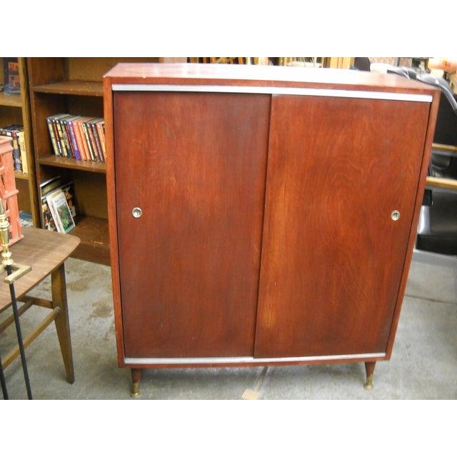 Vintage Midcentury Modern Record Cabinet - Image 3 of 11