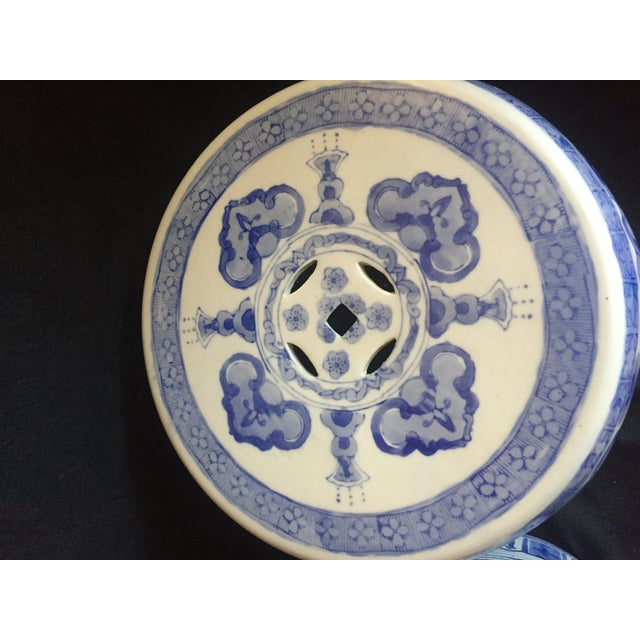 Chinese Garden Stools - Pair - Image 3 of 6