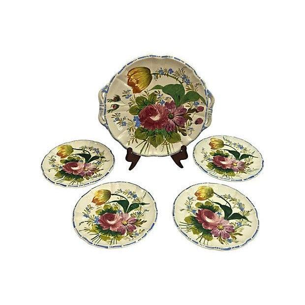 Italian Cake & Dessert Plates- Set of 5 - Image 2 of 9
