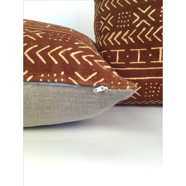 Image of Vintage African Mudcloth Pillows - a Pair