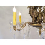 Image of Antique French Empire Mermaid Brass Chandelier
