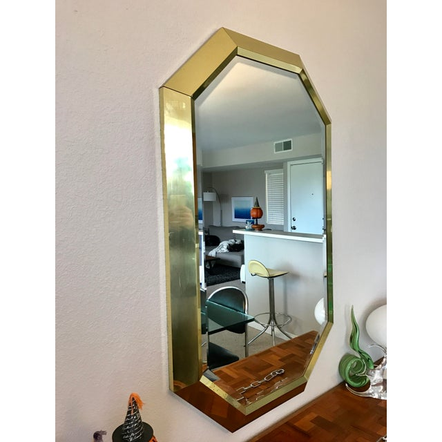 Springer Style Brass Beveled Glass Mirror - Image 4 of 9