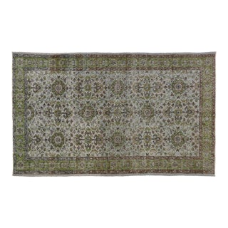 "Zeki Muren Distressed Vintage Turkish Sivas Rug - 4'03"" X 6'10"""