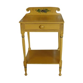 Sheraton 19 C. Painted Country Washstand Table