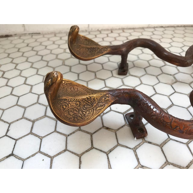 Gold Ombre Brass Cobra Door Handles - A Pair - Image 6 of 10