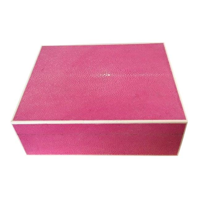 Hot Pink Shagreen Box - Image 1 of 5