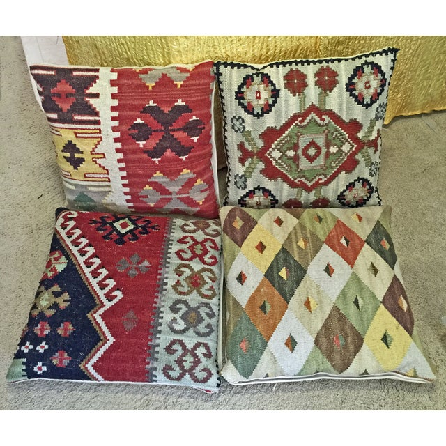 Dhurrie Tapestry Pillows - Set of 4 - Image 2 of 4