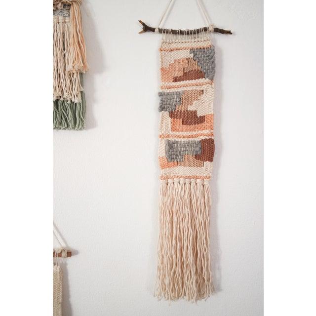 Handwoven Metallic Rose Gold, Grey, & Brown Wall Hanging - Image 2 of 4