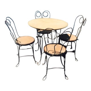 1930's Ice Cream Parlor Chairs and Table Set