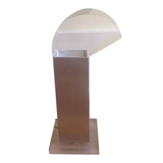Vintage Missaglia Aluminum & Acrylic Table Lamp
