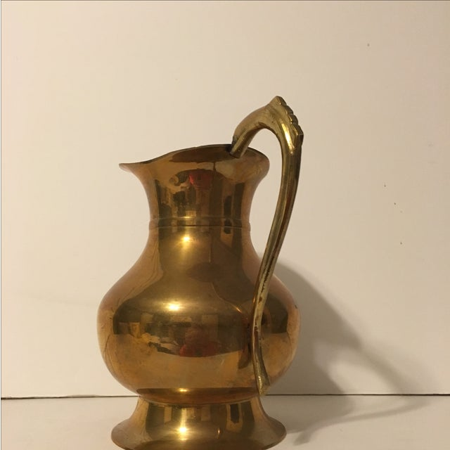 Large Brass Pitcher - Image 3 of 7