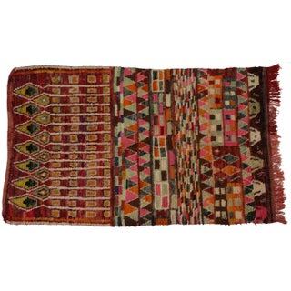 "Vintage Berber Moroccan Rug - 5'1"" X 8'3"""