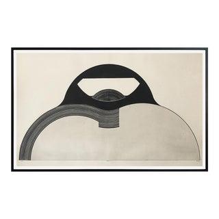 """Christian Fossier Framed Engraving """"Voila!"""" 1967"""