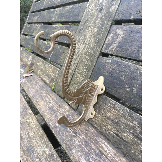 Vintage Brass Elephant Hook - Image 3 of 6