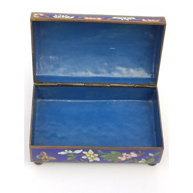 Antique Chinese Cloisonne Box - Image 9 of 11