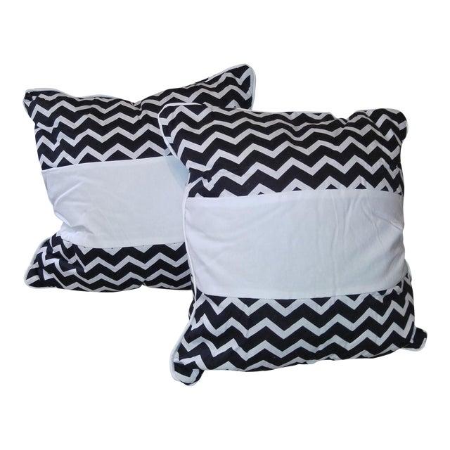 Daring Chevron Pillows - Pair - Image 1 of 4