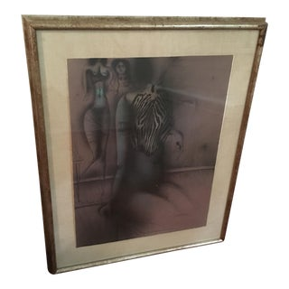 """Paul Wunderlich """"Zebrabluse"""" Lithograph"""