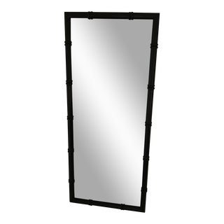 Black Faux Bamboo Mirror