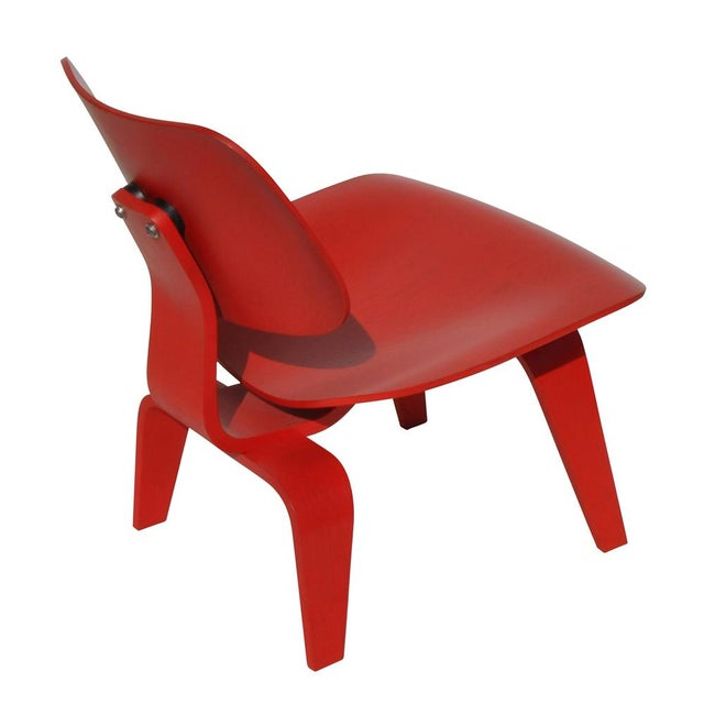 Red LCW Molded Lounge Chair - Image 6 of 6