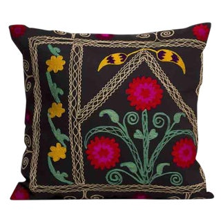 Embroidered Persian Accent Pillow