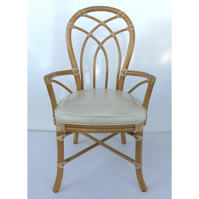 McGuire Rattan Dining Chairs - Set of 6 - Image 3 of 10
