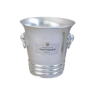 Vintage French Taittinger Champagne Ice Cooler Bucket
