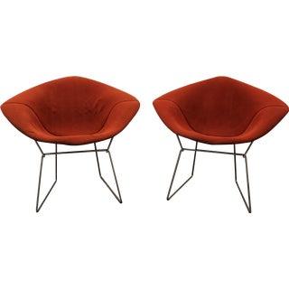 Harry Bertoia Chrome Diamond Chairs - A Pair