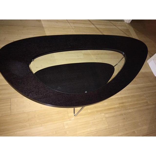 Oval Coffee Table Modern: Modern Oval Wood & Glass Coffee Table