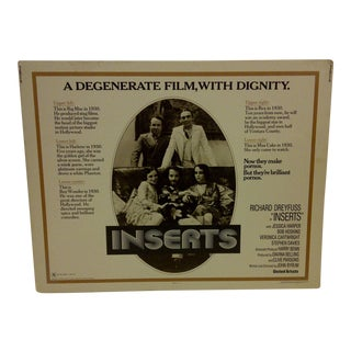 "Vintage Movie Poster ""Inserts"" 1976"