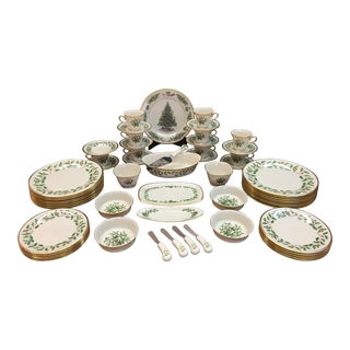 Lenox Christmas China Service - Set of 54