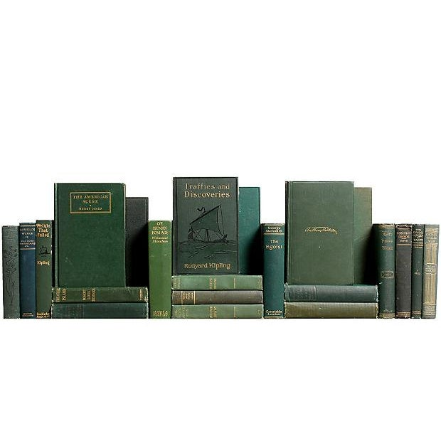 Image of Green Distressed Classic Books - S/22