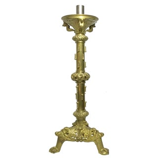 Vintage French Medival-Style Altar Candlestick