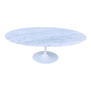 Tulip Table in Heavy Aluminum and Marble