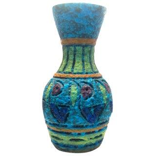 Aldo Londi Sgraffito Bitossi Floral Vase