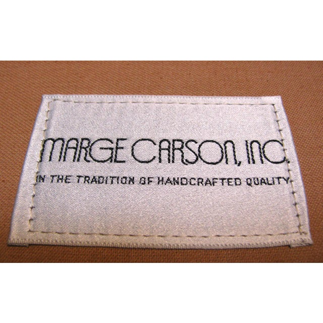 Image of Marge Carson Modern Armless Lounge Chairs - A Pair