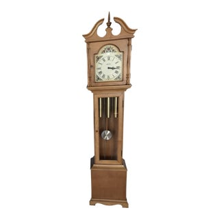 Traditional Maple Grandfather Clock